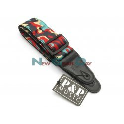 P&P S142-A Red Green Black Camouflage Guitar Strap