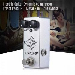 MOSKY Electric Guitar Dynamic Compressor Effect Pedal Full Metal Shell True Bypass