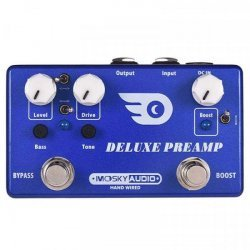 Mosky Deluxe Preamp Guitar Effect Pedal 2 In 1 Boost Classic Overdrive Effects