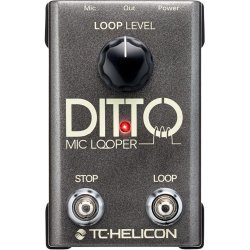 TC Helicon Ditto Mic Looper Vocal Effect Pedal