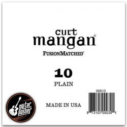 Curt Mangan 10 Plain Ball End Single String for Acoustic & Electric Guitar
