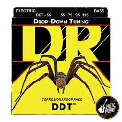 DR DDT-55 Drop Down Tuning Heavier Bass Strings 55-115 (55 75 95 115)