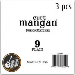 Curt Mangan .09 Plain Ball End Single String for Acoustic & Electric Guitar - 3 pcs