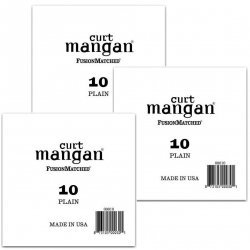 Curt Mangan 10 Plain Ball End Single String for Acoustic & Electric Guitar - 3 pcs