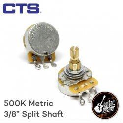 CTS B500k Potentiometer, Linear Taper for Volume, 3/8