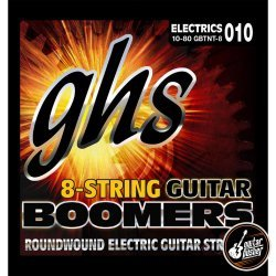 GHS Boomers TNT 8-String for Electric Guitar (10 13 17 30 44 52 62 80)