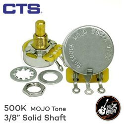 CTS 500k Potentiometer 3/8in for Guitar Volume and Tone - Solid Shaft (MOJO 500KA 1745)
