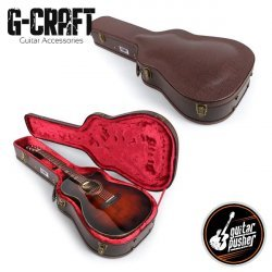 HC-043 Premium Brown hard case for Acoustic Guitar - Dreadnought and Grand Auditorium