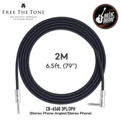 Free The Tone CB-6560 3PH/3PL (Stereo Phone Angled/Stereo Phone) Microphone/Line Cable 2M
