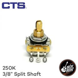 CTS 250k Potentiometer for Guitar Volume and Tone Vintage Taper 3/8 in shaft US spec (250V 137 1848)