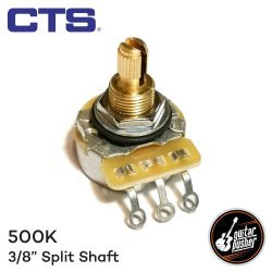CTS 500k Potentiometer (3/8) Audio Taper for Guitar Tone and volume - Brass split shaft 450 (1831)
