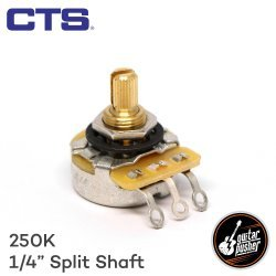 CTS 250k Potentiometer for Strat and Tele Guitar Volume and Tone 1/4 in shaft US spec (920D Custom)