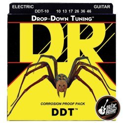 DR DDT-10 Drop Down Tuning Medium Electric Guitar Strings 10-46 (10 13 17 26 36 46)