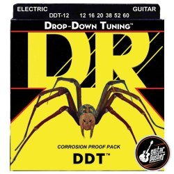 DR DDT-12 Drop Down Tuning Extra Extra Heavy Electric Guitar Strings 12-60 (12 16 20 38 52 60)