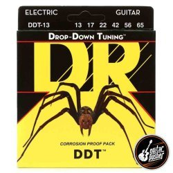 DR DDT-13 Drop Down Tuning Mega Heavy Electric Guitar Strings 13-65 (13 17 22 42 56 65)
