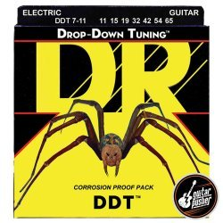 DR DDT7-11 Drop Down Tuning 7-String Extra Heavy Electric Guitar Strings 11-65 (11 15 19 32 42 54 65)