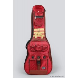 Kavaborg HG-600F Acoustic Guitar Gig Bag (Red)