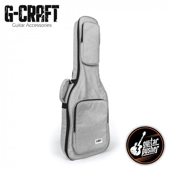 G-Craft LUX LITE E Padded Gig Bag for Electric Guitar - Grey