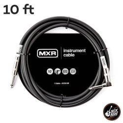 MXR Standard Instrument Cable 10ft Straight to Right Angle DCIS10R