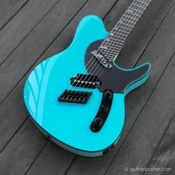 Ormsby TXGTR 6-String Multiscale Electric Guitar Azure Blue