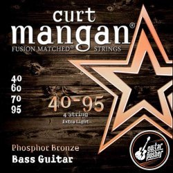 Curt Mangan Phosphor Bronze Acoustic Bass Guitar String Set 40-95 (40 60 70 95)