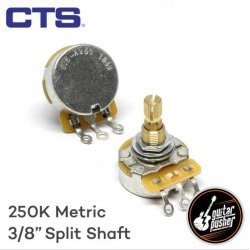CTS A250k Potentiometer for Strat and Tele, Audio Taper for Tone, 3/8