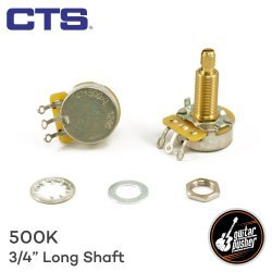 CTS 500K 3/4 Long Shaft Potentiometer (comes with nut and 2 type washers)