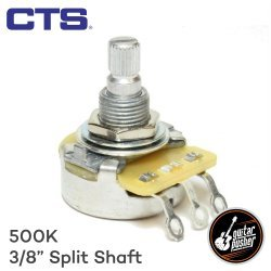 CTS 500k Potentiometer (3/8) Audio Taper for Guitar Tone and volume - aluminum split shaft (450S4072 1807)