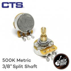 CTS A500k Potentiometer, Audio Taper for Tone, 3/8