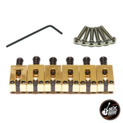Graphtech String Saver Classics Strat & Tele Style 2 1/16 in. Gold (6 Pcs) PG-8000-0G