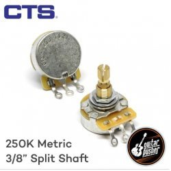 CTS B250k Potentiometer for Strat and Tele, Linear Taper for Volume, 3/8