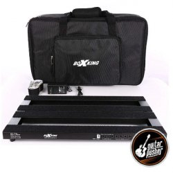 BoxKing Rechargeable Pedalboard w/ Gig Bag & Accessories (25600mAh, 20 output) 18.8
