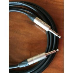 Mogami 2524 Custom Series Professional Guitar Cable - Neutrik Nickel Straight To Straight TS Connectors