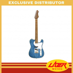 Aria 615-MK2-MBWH Nashville Hot Rod Collection Electric Guitar (Turquoise Blue)