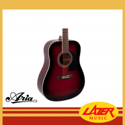 Aria AD-18-RS Dreadnought Acoustic Guitar (Red Shade)