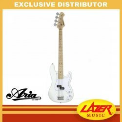 Aria STB-PB/M-WH Solid Body Electric Bass Guitar