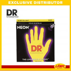 DR NYB-40 NEON Yellow 40-100 Bass Guitar Strings