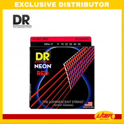 DR NRA-1254 Neon Red Acoustic String G12-54 Medium
