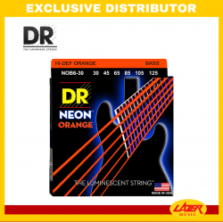 DR NOB6-30125 Neon Orange Bass 6 Str-G30-125