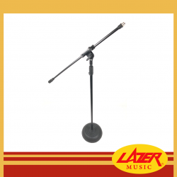 Lazer 7153RB-B Boom Mic Stand With Round Base