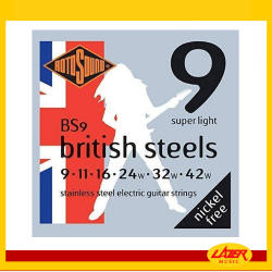 Rotosound BS9 British Steel 9-42 Electric Guitar Strings