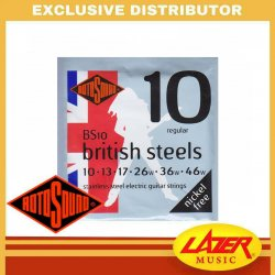 Rotosound BS10 British Steel 10-46 Stainless Steel Electric Guitar Strings