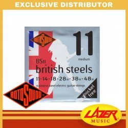 Rotosound BS11 British Steel 11-48 Stainless Steel Electric Guitar Strings