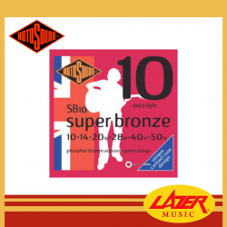 Rotosound SB10 Super Bronze Phosphor Bronze 10-50 Acoustic Guitar Strings