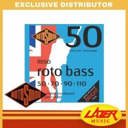 Rotosound RB50 Roto Bass Nickel on Steel Roundwound 50-110 Bass Guitar Strings