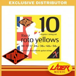 Rotosound R10-7 Roto Yellows 7 String Nickel On Steel 10-56 Electric Guitar Strings