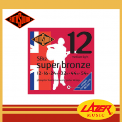 Rotosound SB12 Super Bronze Phosphor Bronze 12-54 Acoustic Guitar Strings