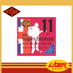 Rotosound SB11 Super Bronze Phosphor Bronze 11-52 Acoustic Guitar Strings