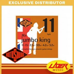 Rotosound JK11 Jumbo King Phosphor Bronze 11-52 Acoustic Guitar Strings