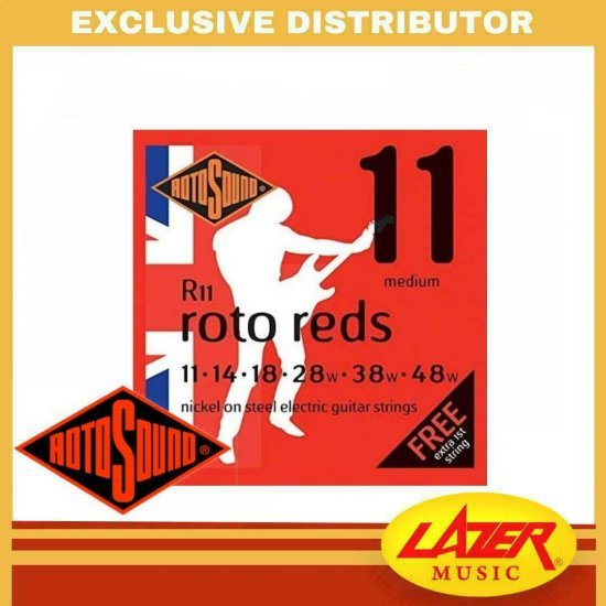 Rotosound R11 Roto Reds 11-48 Nickel on Steel Electric Guitar Strings